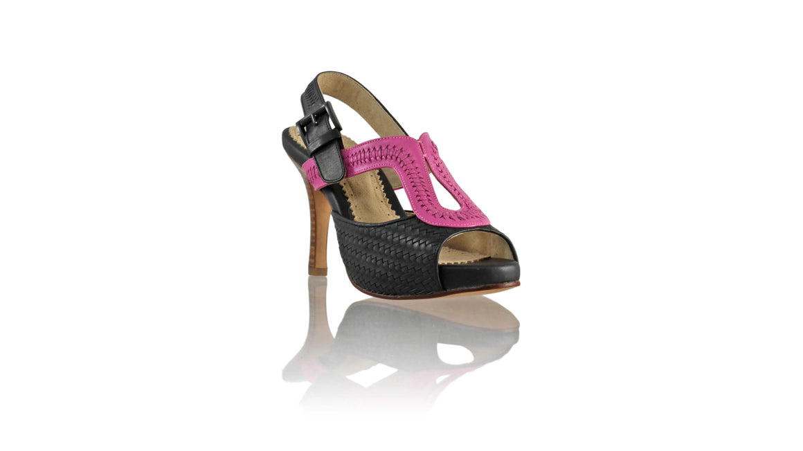 Leather-shoes-Arya PF 90MM SH - Black & Pink-sandals higheel-NILUH DJELANTIK-NILUH DJELANTIK