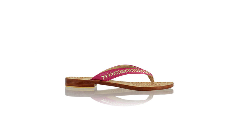 Leather-shoes-Ayu 20mm Flat - Light Purple & Gold-sandals flat-NILUH DJELANTIK-NILUH DJELANTIK