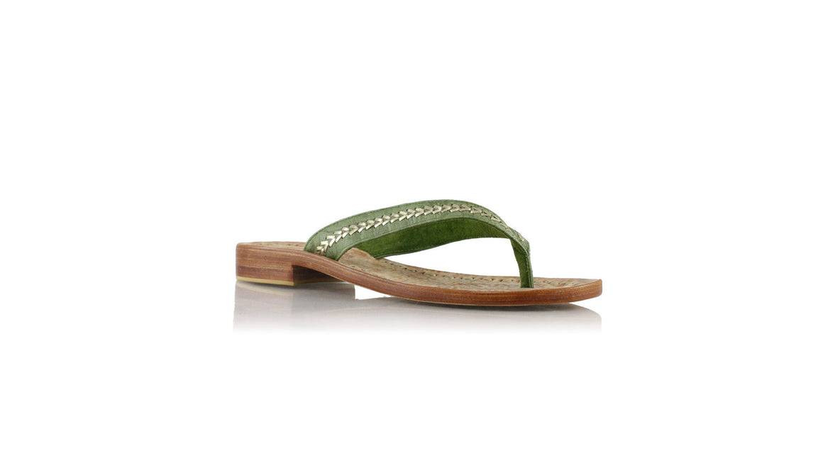 Leather-shoes-Ayu 20mm Flats - Green Croco embossed & Gold-sandals flat-NILUH DJELANTIK-NILUH DJELANTIK