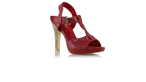 Leather-shoes-Baizura 115mm SH PF- Red Snake Print-Shoes-NILUH DJELANTIK-NILUH DJELANTIK