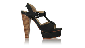 Leather-shoes-Baizura PF 140mm WH - Black-sandals higheel-NILUH DJELANTIK-NILUH DJELANTIK