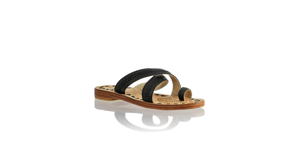 Leather-shoes-Batu 20mm Flat - All Black-sandals flat-NILUH DJELANTIK-NILUH DJELANTIK