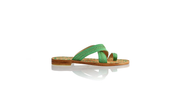 Leather-shoes-Batu 20mm Flat - All Green-sandals flat-NILUH DJELANTIK-NILUH DJELANTIK