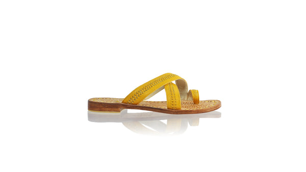 Leather-shoes-Batu 20mm Flat - All Yellow-sandals flat-NILUH DJELANTIK-NILUH DJELANTIK