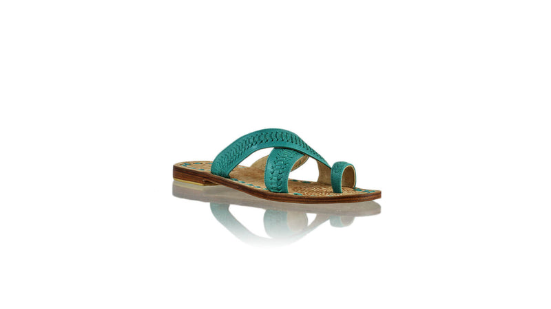 Leather-shoes-Batu 20mm Flat - Dark Aqua-sandals flat-NILUH DJELANTIK-NILUH DJELANTIK
