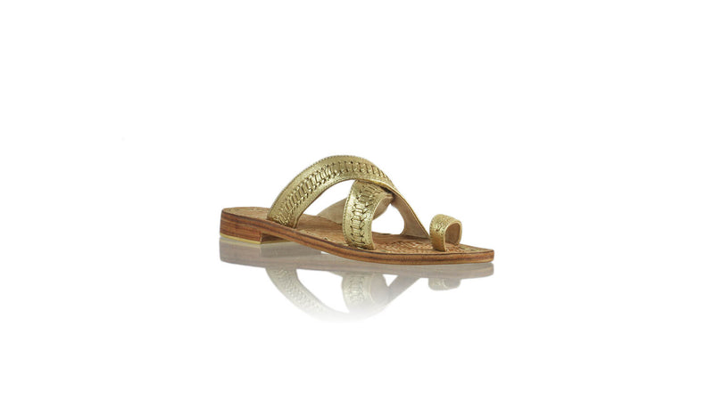 Leather-shoes-Batu 20mm Flat - Gold-sandals flat-NILUH DJELANTIK-NILUH DJELANTIK