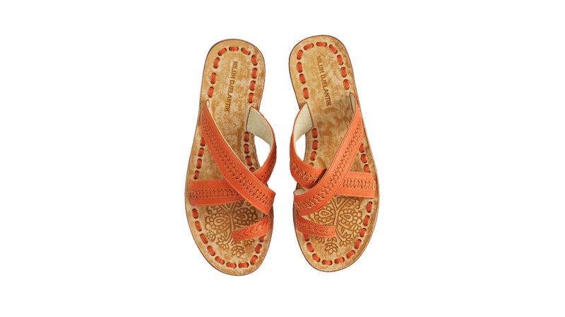 Leather-shoes-Batu 20mm Flat - All Orange-sandals flat-NILUH DJELANTIK-NILUH DJELANTIK