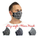 Leather-shoes-Batik 3 PLY cotton mask Set BLACK SERIES-Accessories-NILUH DJELANTIK-NILUH DJELANTIK