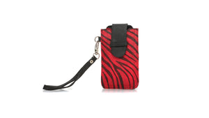 Leather-shoes-Bonjour Flap Phone Case - Zebra Print Calf hair - Red and Black-Accessories-NILUH DJELANTIK-NILUH DJELANTIK