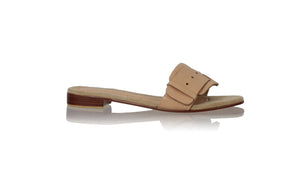 leather shoes Buckle 20mm Flats - Nude, sandals flat , NILUH DJELANTIK - 1