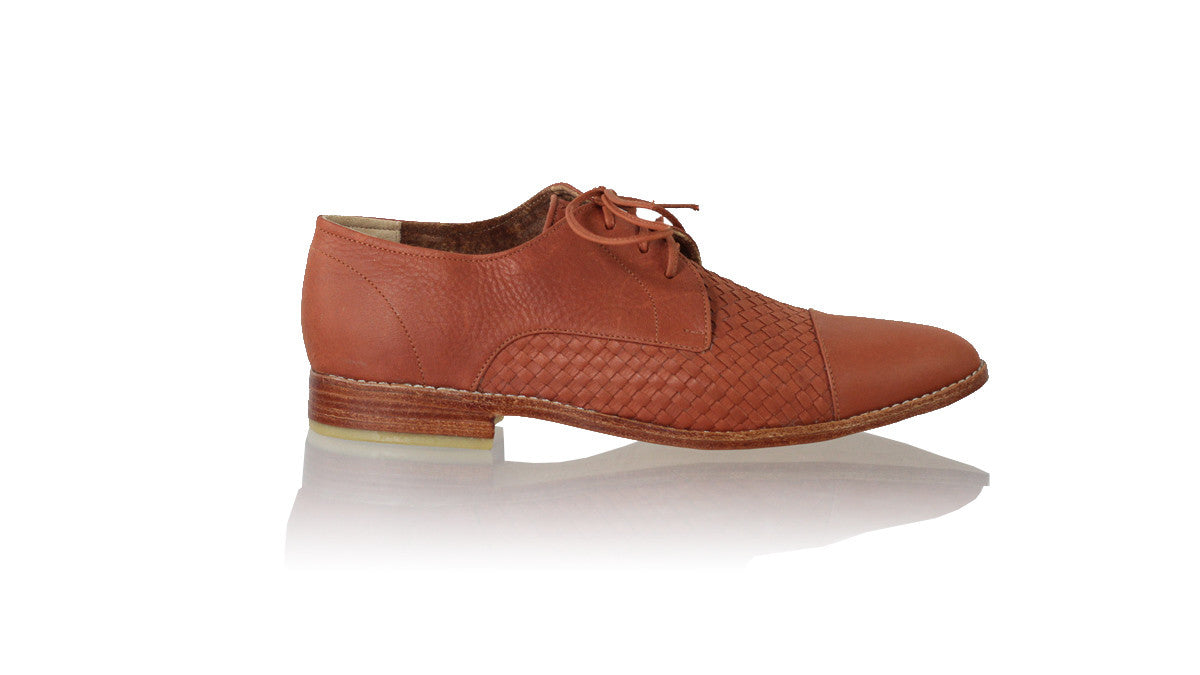 Leather-shoes-Carlos 25mm Flat - Burnt Orange-flats laceup-NILUH DJELANTIK-NILUH DJELANTIK