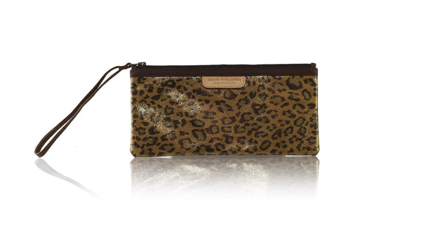 Leather-shoes-Clutch 11x23 - Brown Leopard Print Faux Leather-Zipper Clutch-NILUH DJELANTIK-NILUH DJELANTIK