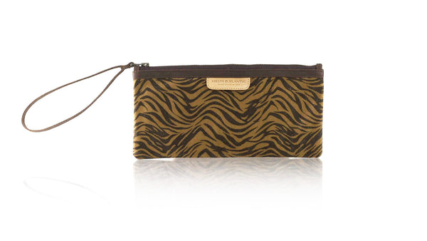 Leather-shoes-Clutch 11x23 - Brown Zebra Print Faux Leather-Zipper Clutch-NILUH DJELANTIK-NILUH DJELANTIK