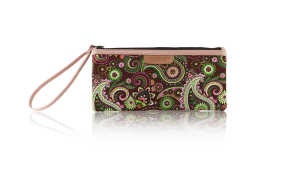 Leather-shoes-Clutch 11x23 - Purple Paisley-Zipper Clutch-NILUH DJELANTIK-NILUH DJELANTIK