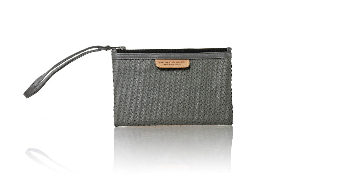 Leather-shoes-Clutch 12 x 19 - Grey Woven-Zipper Clutch-NILUH DJELANTIK-NILUH DJELANTIK