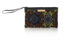 Leather-shoes-Clutch 14x23 - Black Handwoven Ikat-Zipper Clutch-NILUH DJELANTIK-NILUH DJELANTIK
