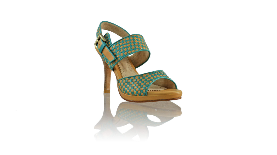 Leather-shoes-Danny PF 90MM SH - Nude & Emerald-sandals higheel-NILUH DJELANTIK-NILUH DJELANTIK