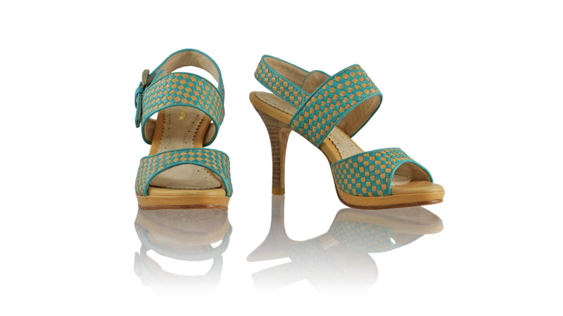 Leather-shoes-Danny 90MM SH PF - Nude & Emerald-sandals higheel-NILUH DJELANTIK-NILUH DJELANTIK