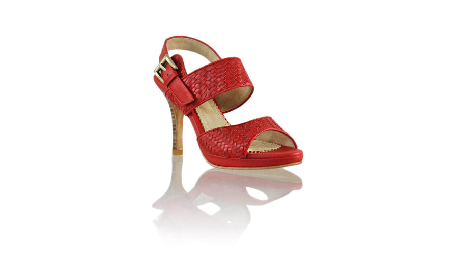 Leather-shoes-Danny 90MM SH PF - Red-sandals higheel-NILUH DJELANTIK-NILUH DJELANTIK