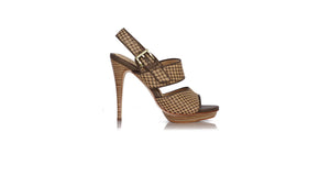 leather shoes Danny Woven PF 125mm SH Mocha - Bronze, sandals higheel , NILUH DJELANTIK - 1