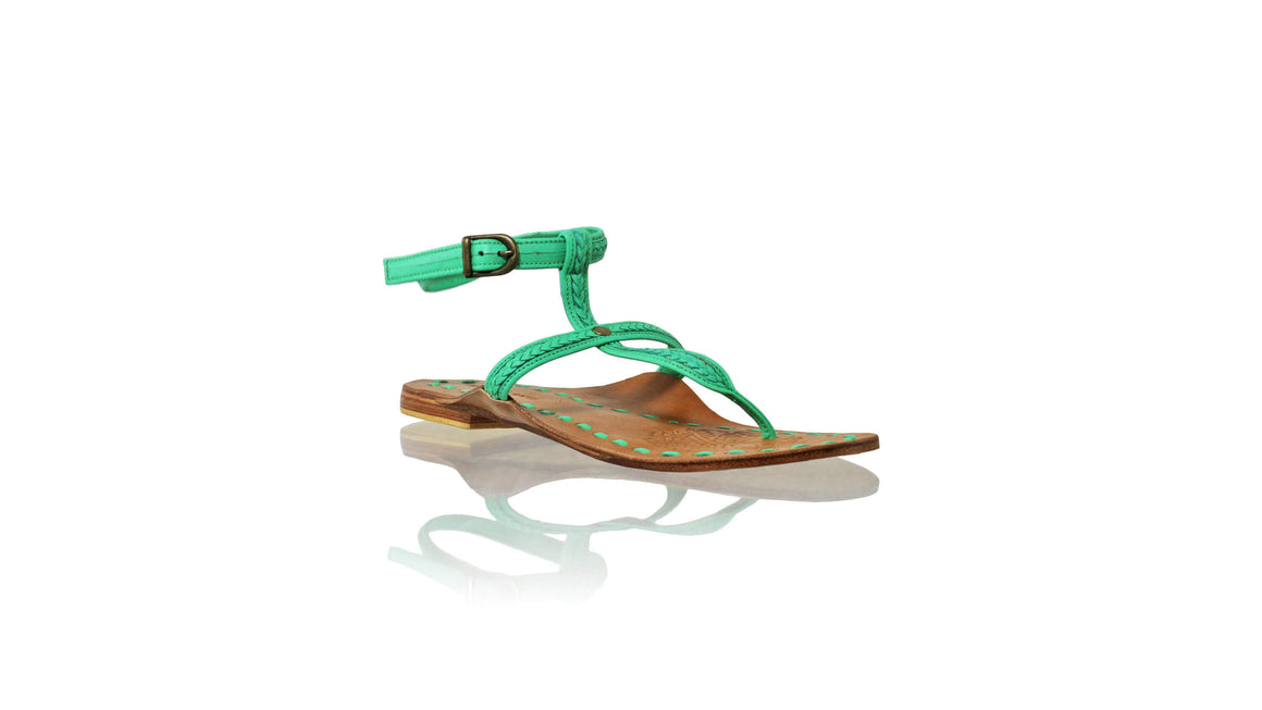 Leather-shoes-Daria 10mm Flat - Aqua-sandals flat-NILUH DJELANTIK-NILUH DJELANTIK