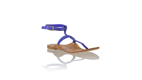 Leather-shoes-Daria 10mm Flat - Blue-sandals flat-NILUH DJELANTIK-NILUH DJELANTIK