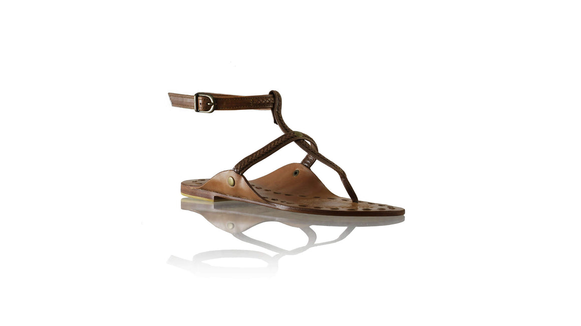 Leather-shoes-Daria 10mm Flat - Dark Brown-sandals flat-NILUH DJELANTIK-NILUH DJELANTIK