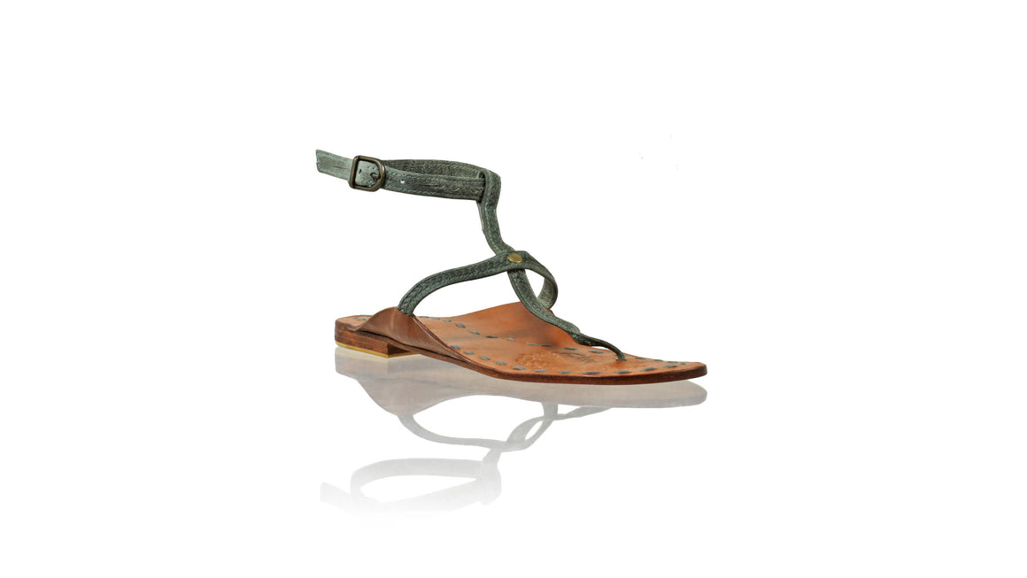 Leather-shoes-Daria 10mm Flat - Dark Green Vintage-sandals flat-NILUH DJELANTIK-NILUH DJELANTIK