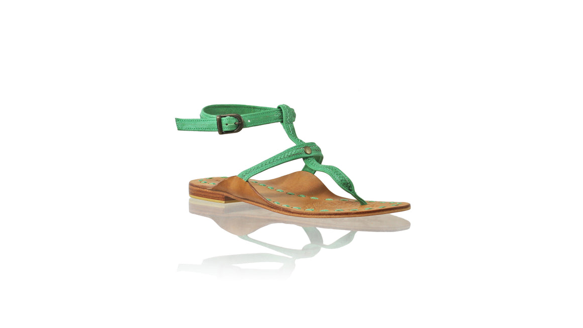 Leather-shoes-Daria 10mm Flat - Green-sandals flat-NILUH DJELANTIK-NILUH DJELANTIK