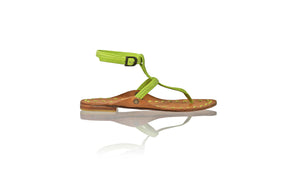 Leather-shoes-Daria 10mm Flat - Lime Green-sandals flat-NILUH DJELANTIK-NILUH DJELANTIK
