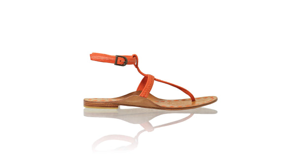 Leather-shoes-Daria 10mm Flat - Orange-sandals flat-NILUH DJELANTIK-NILUH DJELANTIK