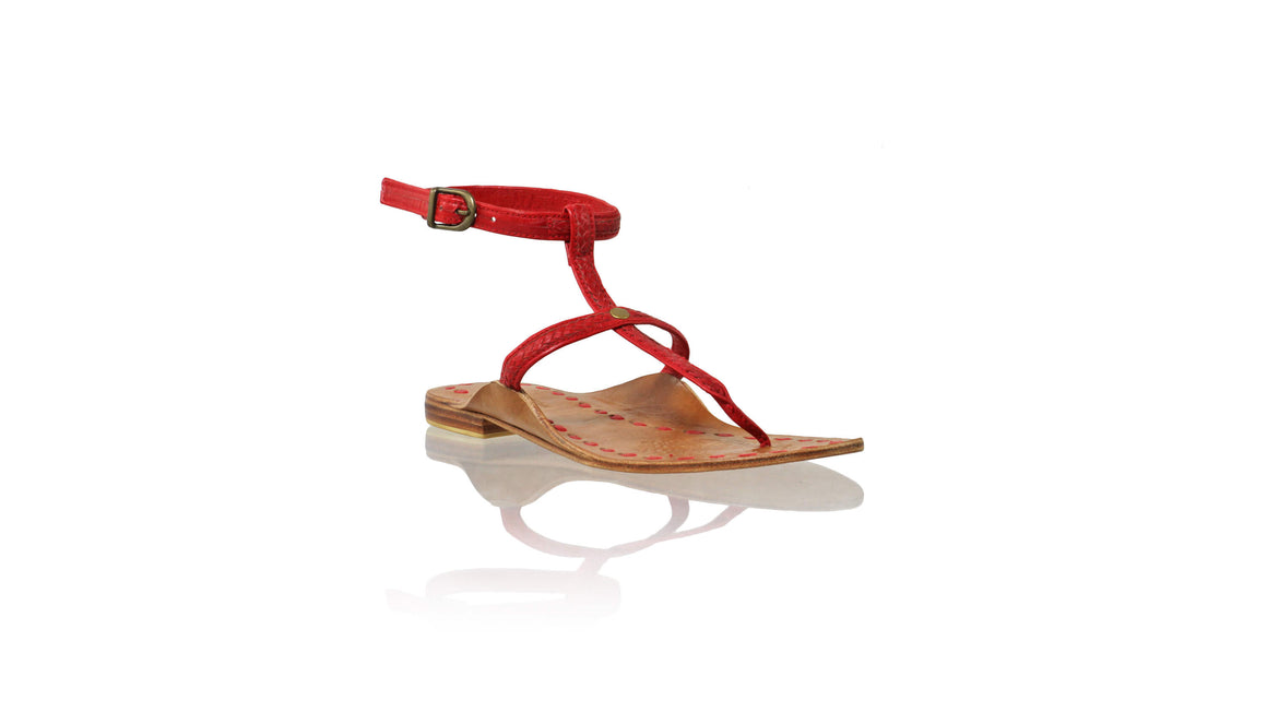Leather-shoes-Daria 10mm Flat - Red-sandals flat-NILUH DJELANTIK-NILUH DJELANTIK