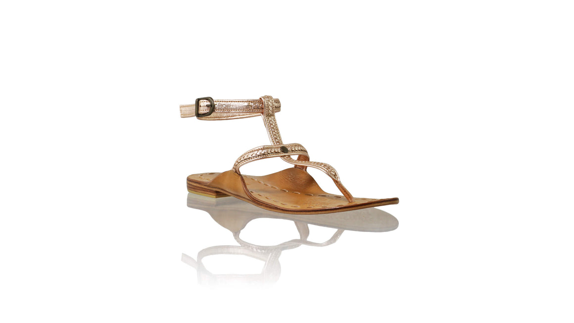 Leather-shoes-Daria 10mm Flat - Rose Gold-sandals flat-NILUH DJELANTIK-NILUH DJELANTIK