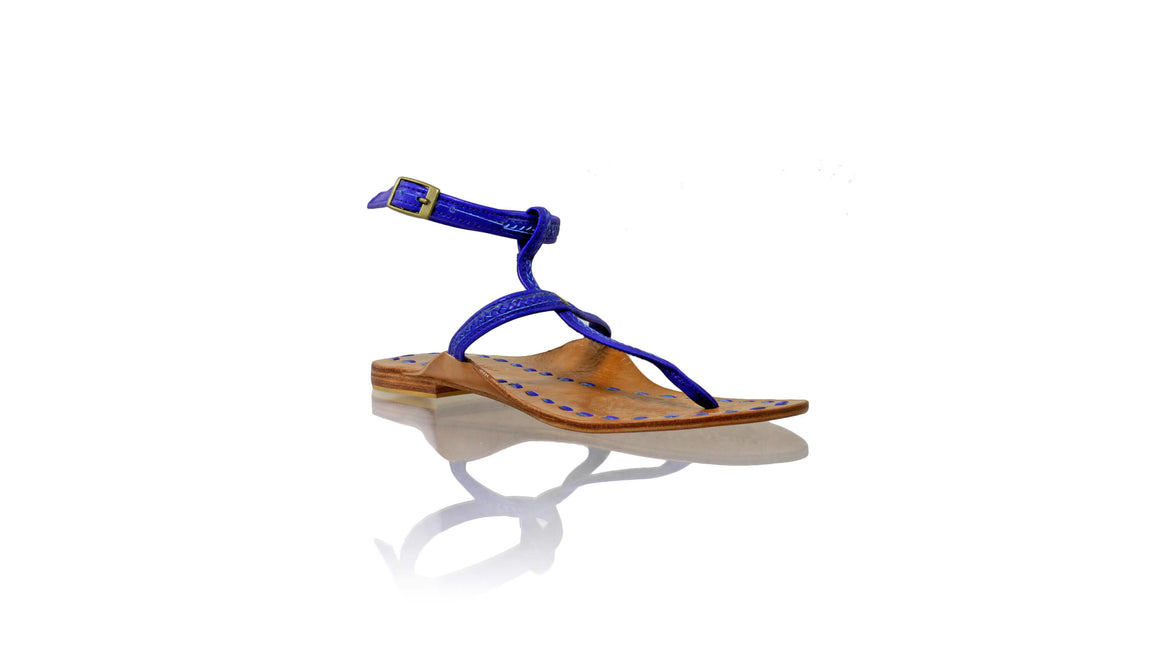 Leather-shoes-Daria 10mm Flat - Royal Blue-sandals flat-NILUH DJELANTIK-NILUH DJELANTIK