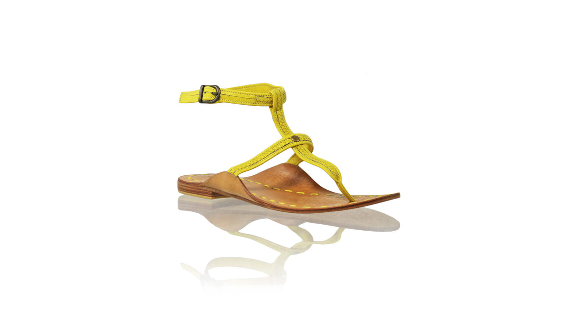 Leather-shoes-Daria 10mm Flat - Yellow-sandals flat-NILUH DJELANTIK-NILUH DJELANTIK