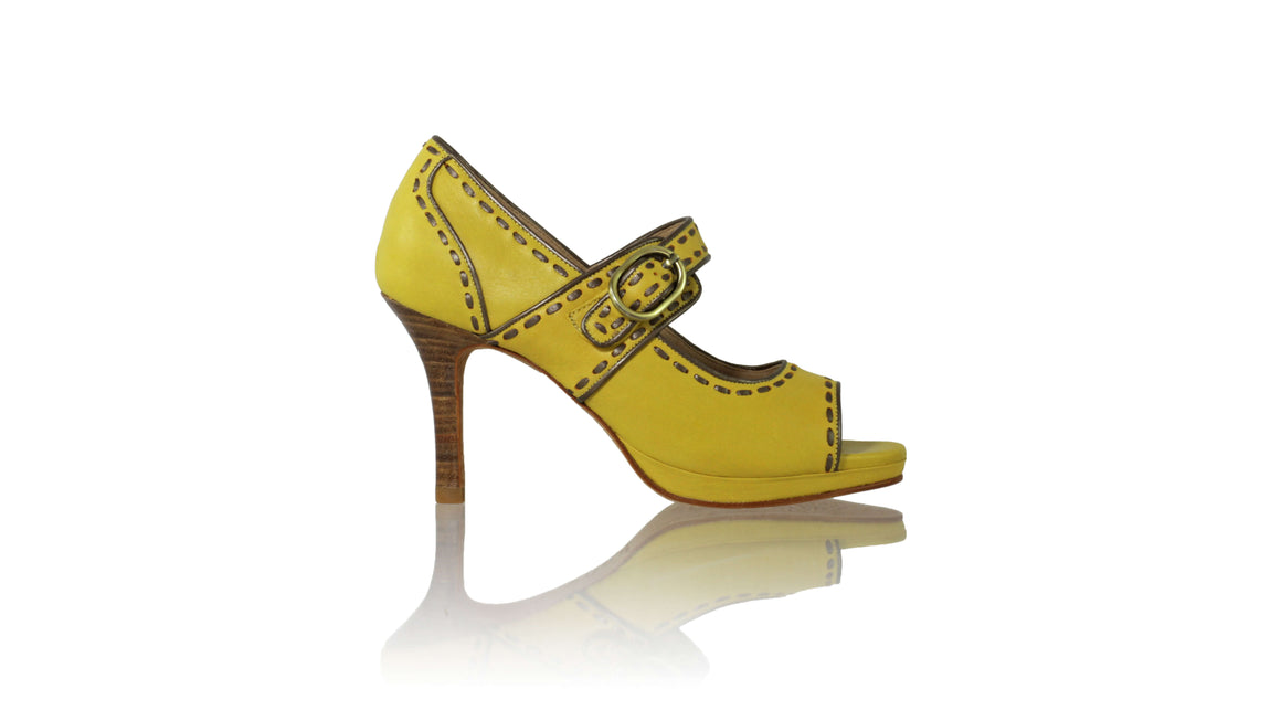 Leather-shoes-Dewi PF Peeptoe 115mm SH - Yellow & Bronze-pumps highheel-NILUH DJELANTIK-NILUH DJELANTIK