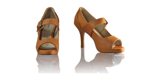 Leather-shoes-Dewi Peeptoe SH-01 PF 90mm - All Camel-sandals higheel-NILUH DJELANTIK-NILUH DJELANTIK