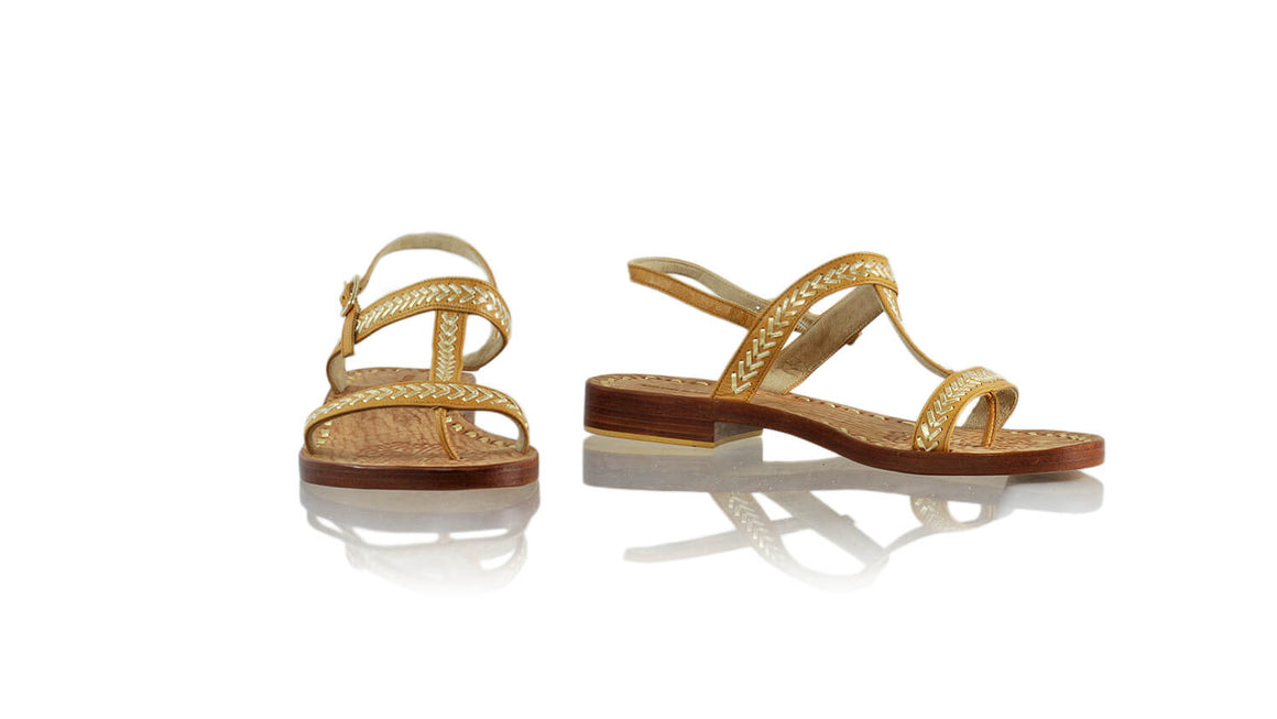 Leather-shoes-Diah 20mm Flat - Camel & Gold-sandals flat-NILUH DJELANTIK-NILUH DJELANTIK