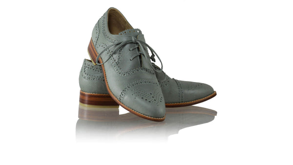 Leather-shoes-Diego 25mm Flat - Grey-flats laceup-NILUH DJELANTIK-NILUH DJELANTIK