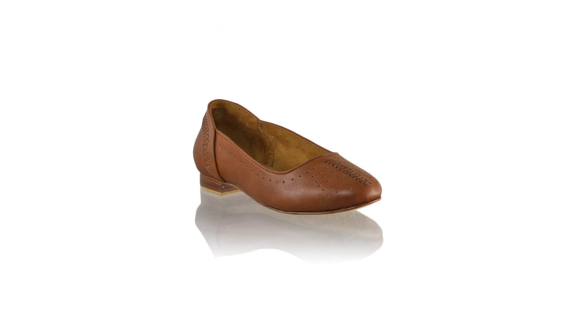 Leather-shoes-Donna Closed Toe 20mm Ballet - All Brown-flats ballet-NILUH DJELANTIK-NILUH DJELANTIK