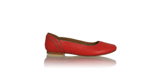 Leather-shoes-Donna Closed Toe 20mm Ballet - Red & Bronze-sandals flat-NILUH DJELANTIK-NILUH DJELANTIK
