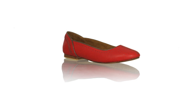 Leather-shoes-Donna 20mm Ballet - Red & Bronze-sandals flat-NILUH DJELANTIK-NILUH DJELANTIK