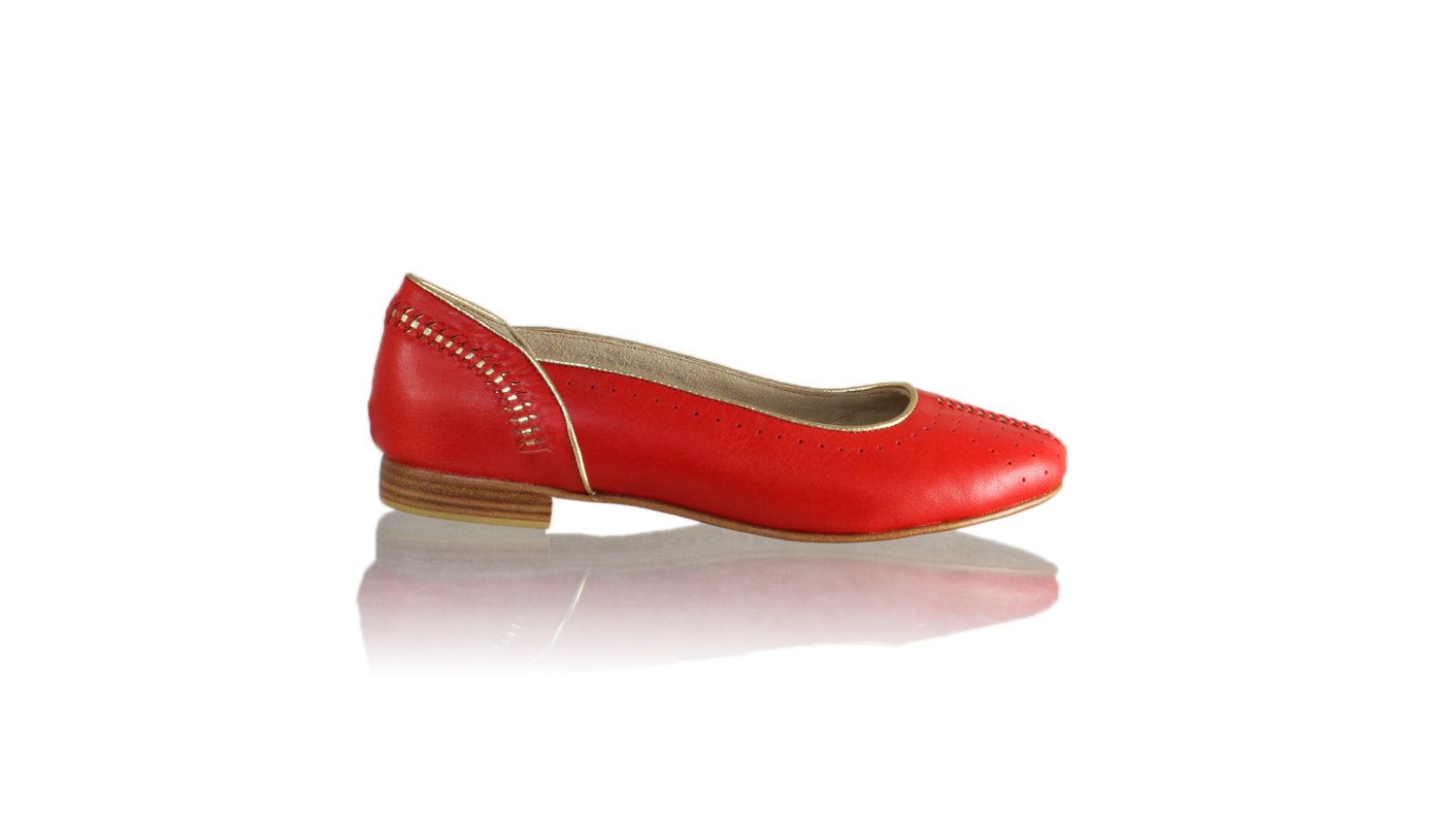 Leather-shoes-Donna 20mm Ballet - Red & Gold-sandals flat-NILUH DJELANTIK-NILUH DJELANTIK