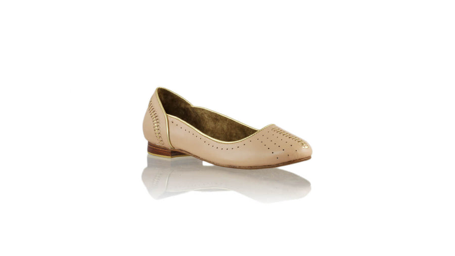Leather-shoes-Donna 20mm Ballet - Baby Pink & Gold-flats ballet-NILUH DJELANTIK-NILUH DJELANTIK