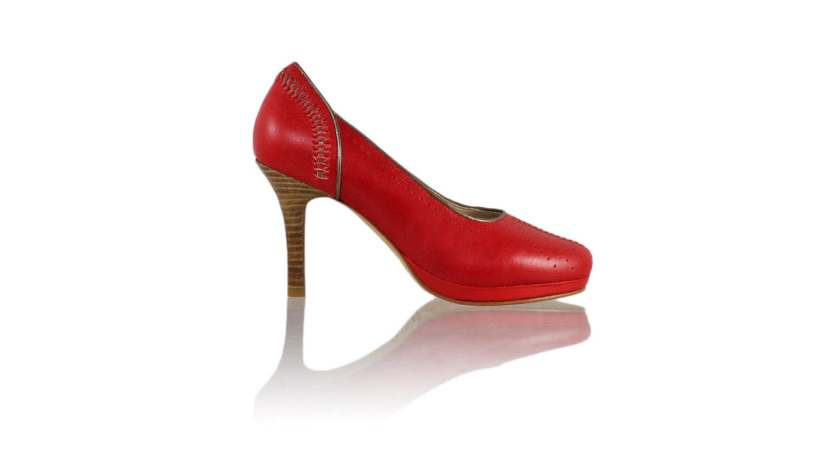 Leather-shoes-Donna Closedtoe PF 90mm - Red-pumps highheel-NILUH DJELANTIK-NILUH DJELANTIK