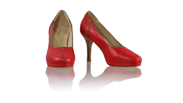 Leather-shoes-Donna 90mm PF- Red & Bronze-pumps highheel-NILUH DJELANTIK-NILUH DJELANTIK