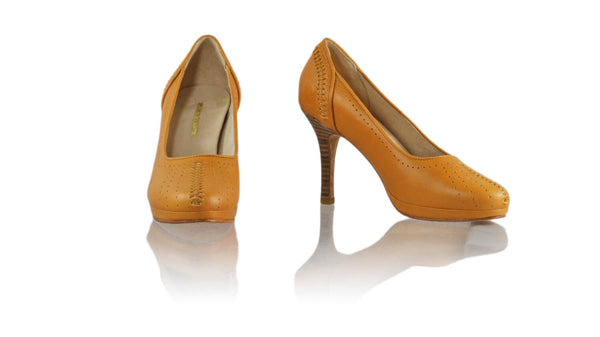 Leather-shoes-Donna 90MM SH PF - Camel-pumps highheel-NILUH DJELANTIK-NILUH DJELANTIK