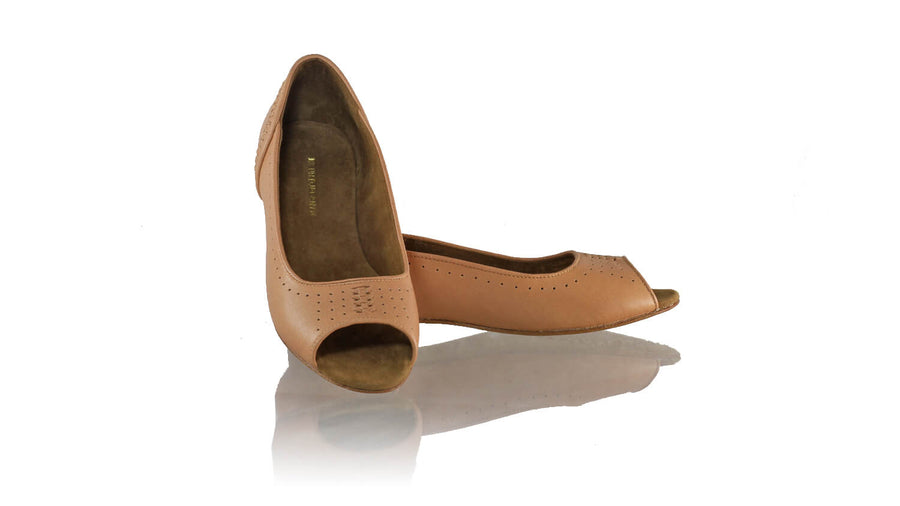 Leather-shoes-Donna Peeptoe 20mm Ballet - All Baby Pink-flats ballet-NILUH DJELANTIK-NILUH DJELANTIK
