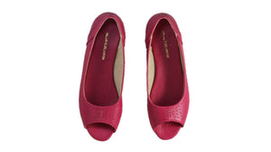 Leather-shoes-Donna Peeptoe 20mm Ballet - All Fuschia-flats ballet-NILUH DJELANTIK-NILUH DJELANTIK