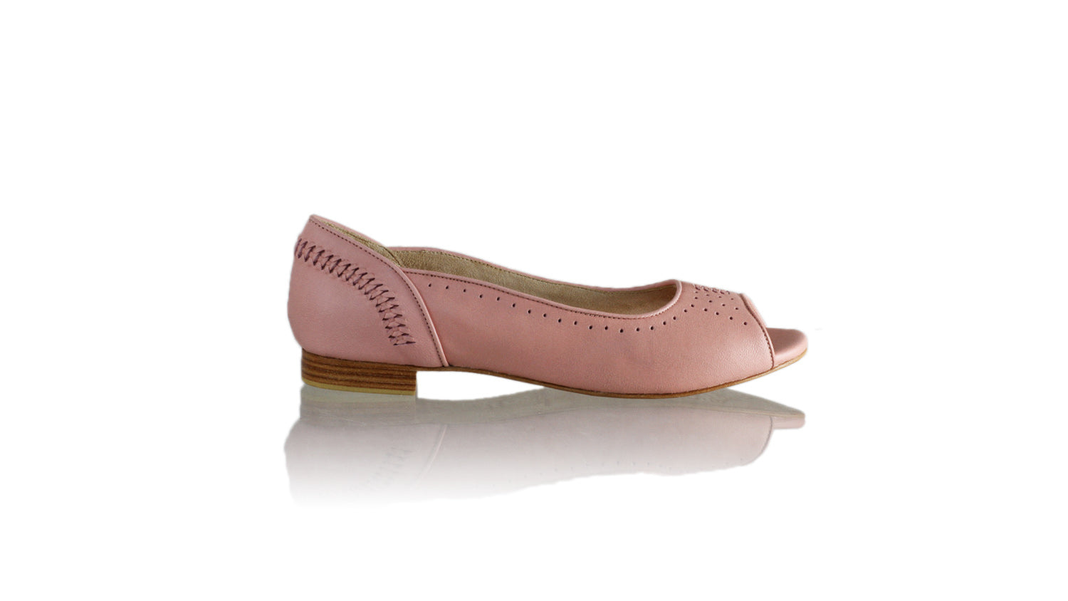 Leather-shoes-Donna Peeptoe 20mm Ballet - All Soft Pink-flats ballet-NILUH DJELANTIK-NILUH DJELANTIK